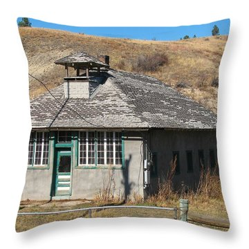 1895 Colorado School Throw Pillow