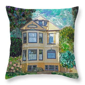 Alameda 1895 Quenn Anne Throw Pillow by Linda Weinstock