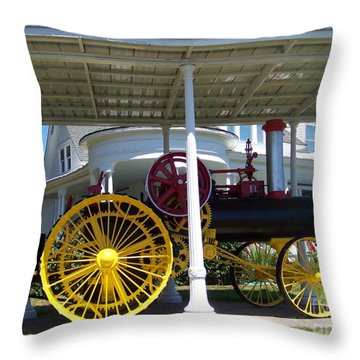1897 Russell Steam Tractor Throw Pillow