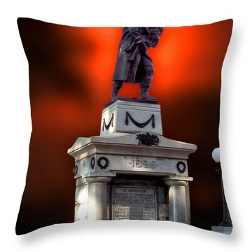 1898 Firemen Memorial St Joes Michigan Throw Pillow by Thomas Woolworth