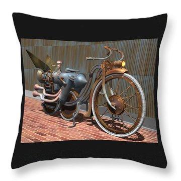 1899 Inline Steam Trike Throw Pillow