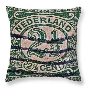 1899 Netherlands Stamp Throw Pillow