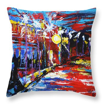 18th And Vine Throw Pillow
