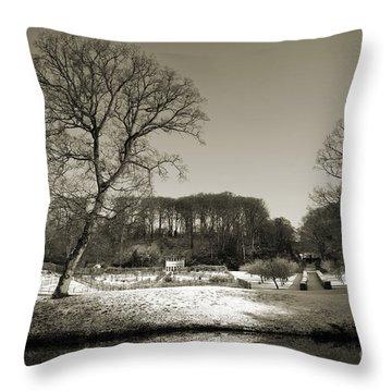 18th Century Winter Throw Pillow by Anne Gilbert