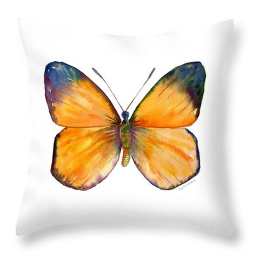 19 Delias Anuna Butterfly Throw Pillow