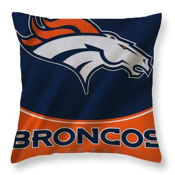 Denver Broncos Uniform Throw Pillow