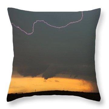 Let The Storm Season Begin Throw Pillow