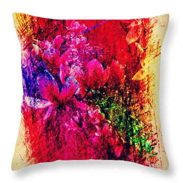 Magnolias In Abstract Throw Pillow