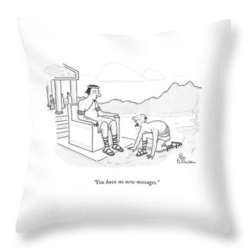 You Have No New Messages Throw Pillow