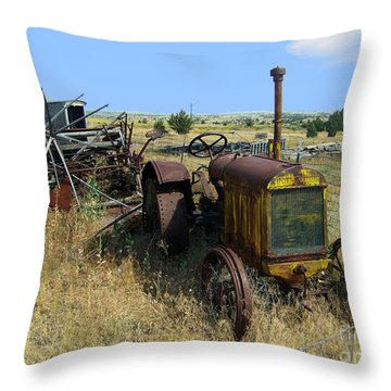 1901 Mccormack-deering Throw Pillow