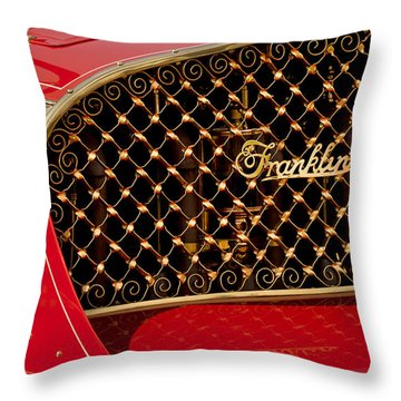 1904 Franklin Open Four Seater Grille Emblem Throw Pillow by Jill Reger