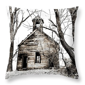 1904 School House Memory Throw Pillow by Sonya Lang