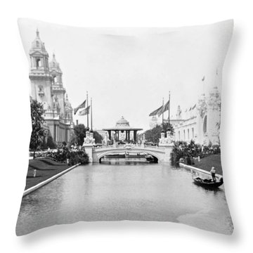 1904 Worlds Fair Lagoon And Electricity Building Throw Pillow
