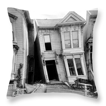 1906 Earthquake Damages Homes Throw Pillow