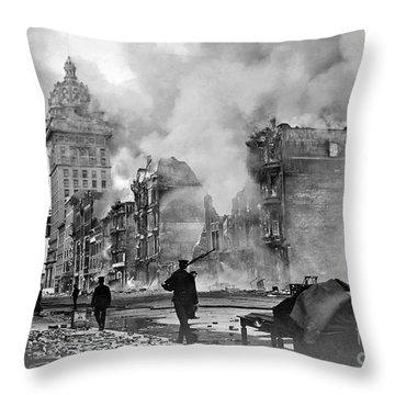1906 San Francisco Fire Throw Pillow