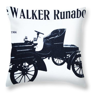1906 Walker Runabout Throw Pillow