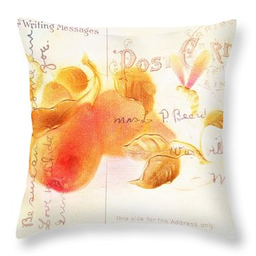 1907 Vintage Pears Postcard Throw Pillow