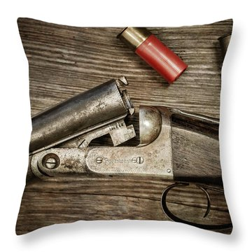1908 Parker Bros. Side-by-side Throw Pillow