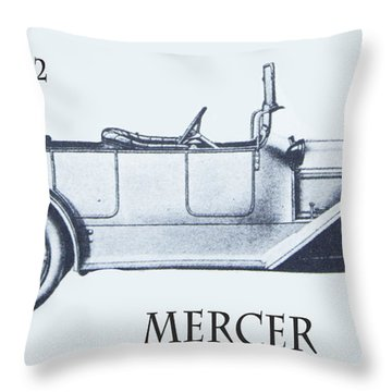1912 Mercer Throw Pillow