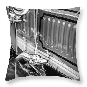 1912 Rolls-royce Silver Ghost Rothchild Et Fils Style Limousine Snake Horn -0711bw Throw Pillow by Jill Reger