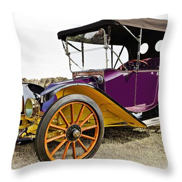 1913 Argo Electric Model B Roadster Throw Pillow by Marcia Colelli