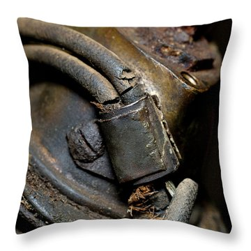 1913 Michaelson Ohv Twin Motorcycle Engine Throw Pillow by Wilma  Birdwell