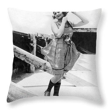 1917 Bathing Suit Fashion Throw Pillow