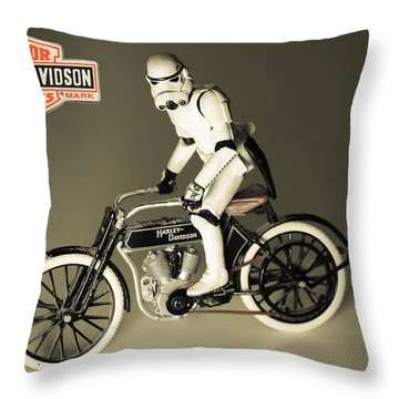 1918 Harley And Clone Throw Pillow