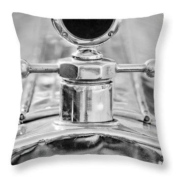 1920 Pierce-arrow Model 48 Coupe Hood Ornament - Motometer Throw Pillow by Jill Reger