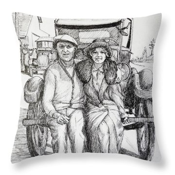 1920s Couple Throw Pillow