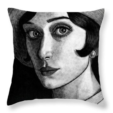 Elizabeth Debiki As Jordan Baker Throw Pillow