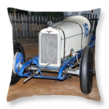 1921 Duesenberg Race Car Throw Pillow
