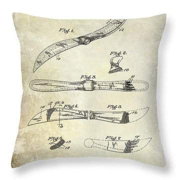 1922 Propeller Patent Drawing Throw Pillow