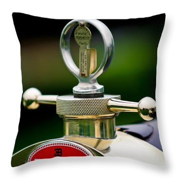 1923 Bugatti Type 23 Brescia Lavocat Et Marsaud Hood Ornament Throw Pillow by Jill Reger