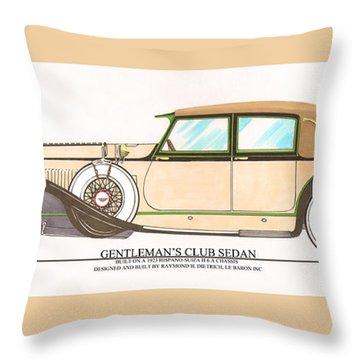1923 Hispano Suiza Club Sedan By R.h.dietrich Throw Pillow by Jack Pumphrey