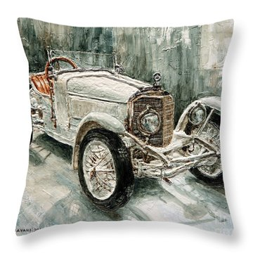 1923 Mercedes Ps Sport- Zweisitzer Throw Pillow