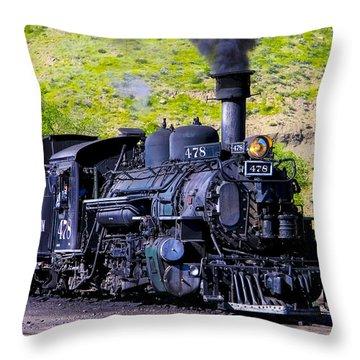 1923 Vintage  Railroad Train Locomotive  Throw Pillow