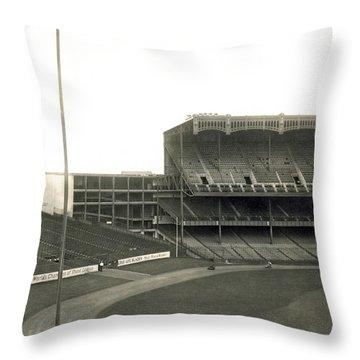 1923 Yankee Stadium Throw Pillow by Underwood Archives
