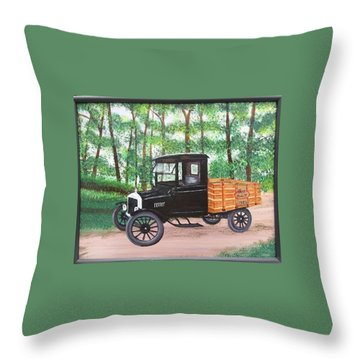 1925 Model T Ford Throw Pillow