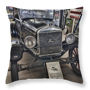 1926 Ford Model T Runabout Throw Pillow by Douglas Barnard