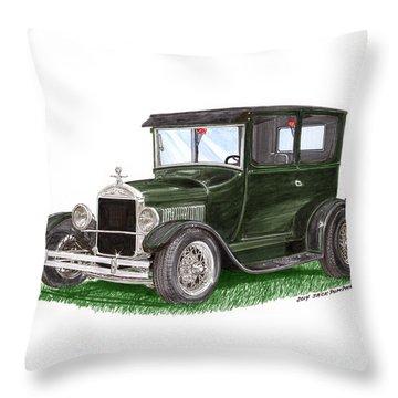 1926 Ford Tudor Sedan Street Rod Throw Pillow by Jack Pumphrey