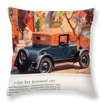 1927 - Chevrolet Advertisement - Color Throw Pillow