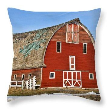 1927 Barn Throw Pillow