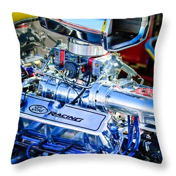 1927 Ford T-bucket Engine Throw Pillow