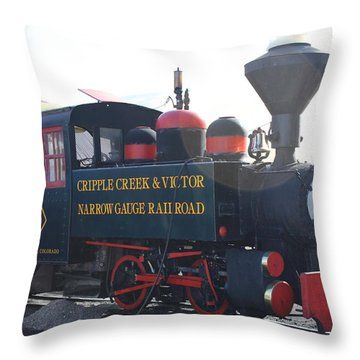 1927 Porter Train Engine Throw Pillow