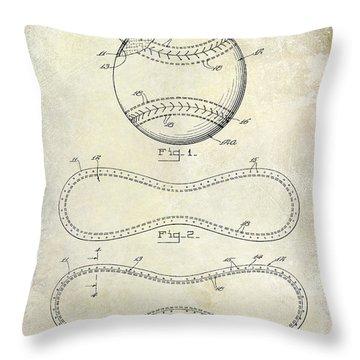 Baseball Bat Patent Throw Pillows