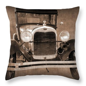 1928 Ford Model A Coupe Throw Pillow