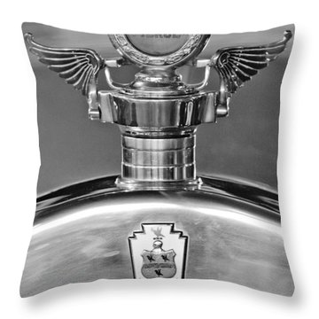 1928 Pierce-arrow Hood Ornament 2 Throw Pillow by Jill Reger