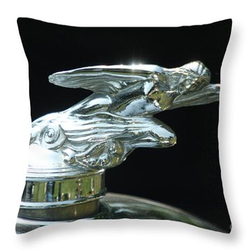 1928 Studebaker Hood Ornament Throw Pillow