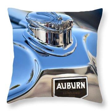 1929 Auburn 8-90 Speedster Hood Ornament Throw Pillow by Jill Reger